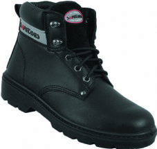Safetoes S3001 Steel Midsole Black Cowhide Leather Derby Boot